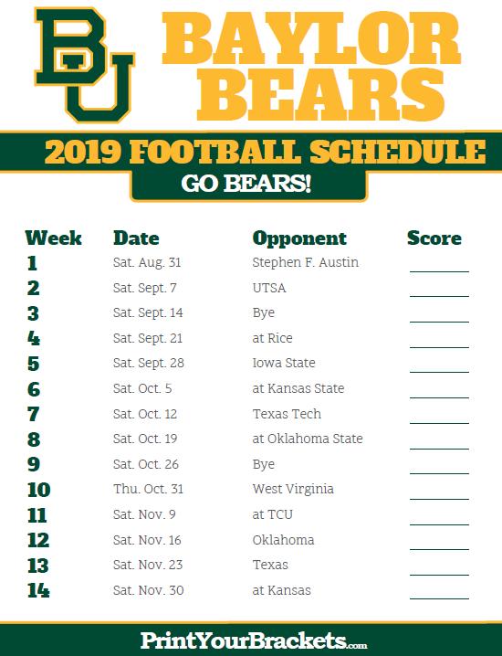 Pin By Caitlyn Brooke On Schedule Georgia Tech Football Baylor Baylor Bear
