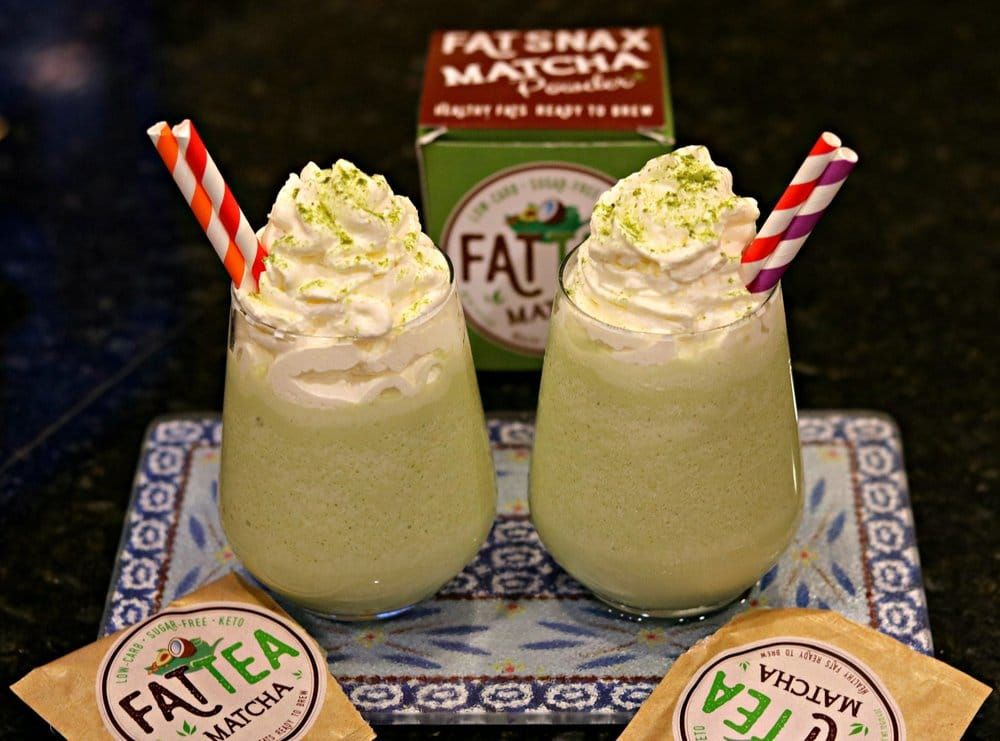Keto Starbucks Green Tea Frappuccino Recipe #ketofrappucinostarbucks