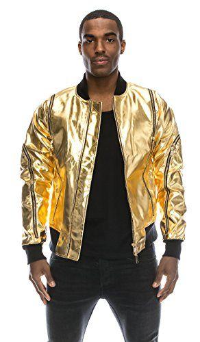 252be57b0 Men's Outerwear for Burning Man: Angel Cola Men's Metallic Faux ...
