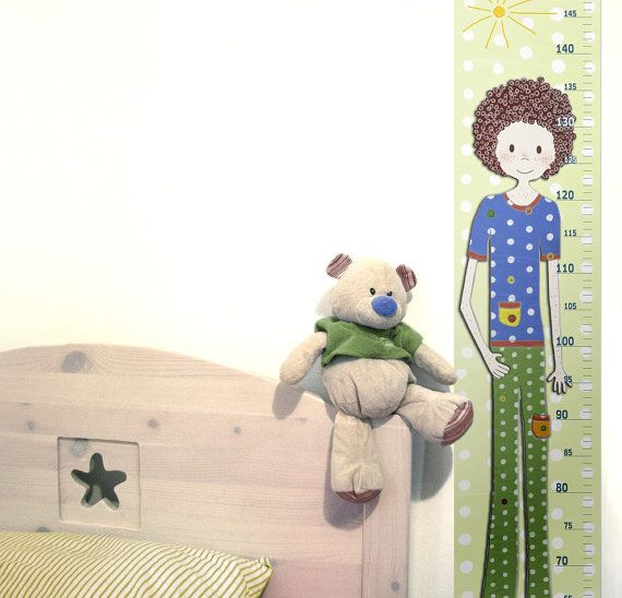 Kids Gift  A Growth Chart For A Little Boy In Canvas Or Vinyl