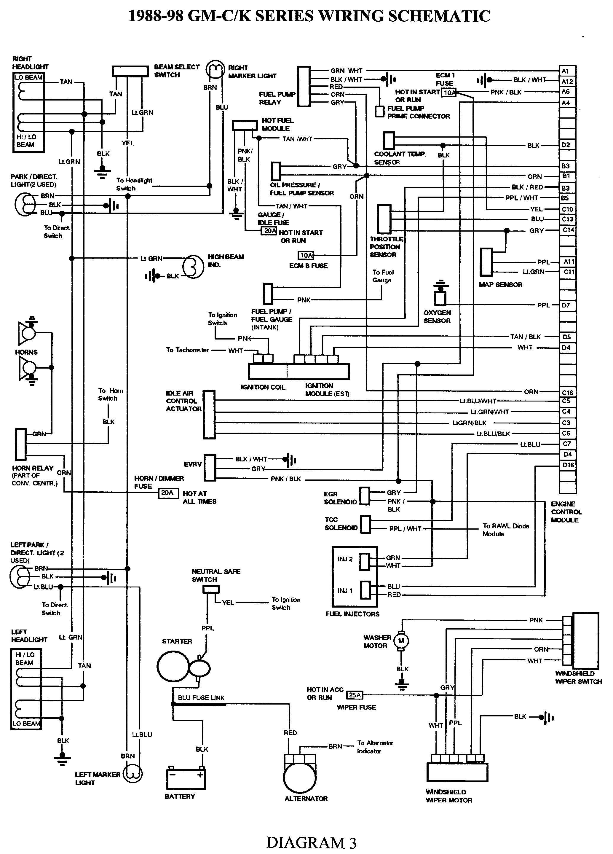 GMC Truck Wiring Diagrams on Gm Wiring Harness Diagram 88 98