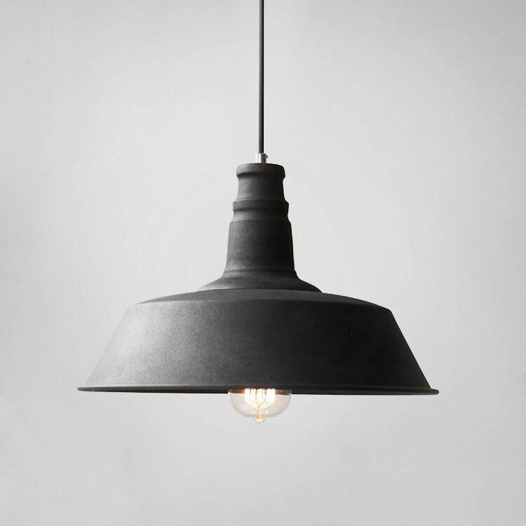 Retro Industrial Pendant Light In Black Industrial Pendant