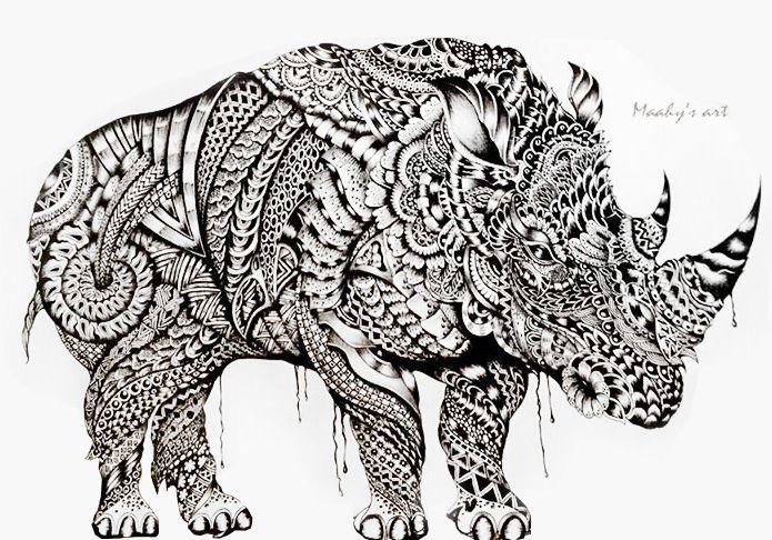 Rhino by Maahy's Art