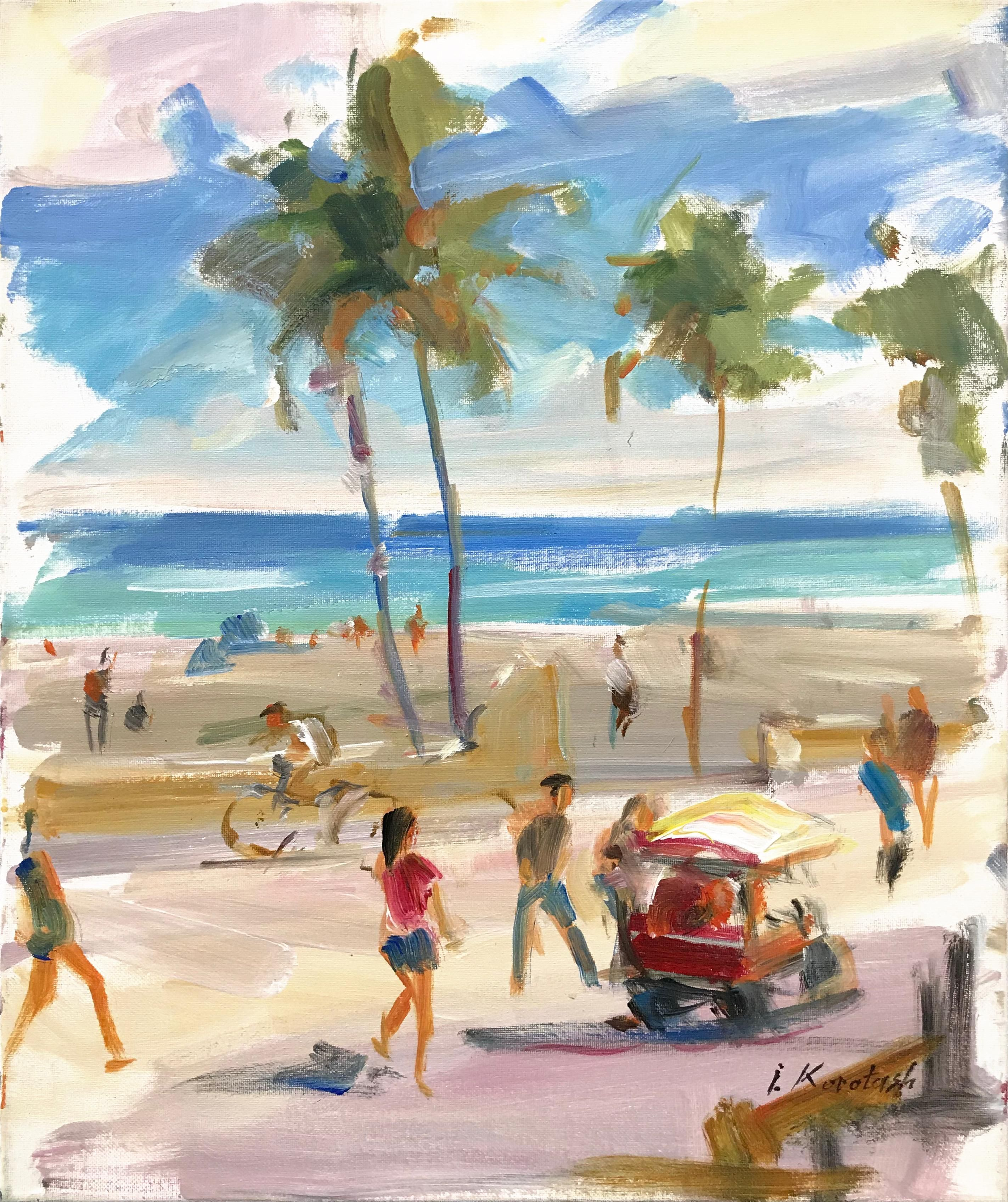 Igor Korotash Hollywood Beach Painting For Sale At 1stdibs