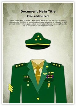 general military uniform word document template is one of the best