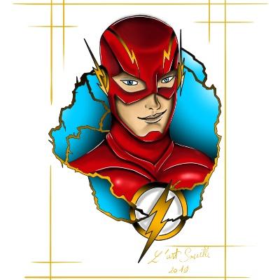 Tatouage Dc Comics Flash En Couleur Par Matt Chez L Art