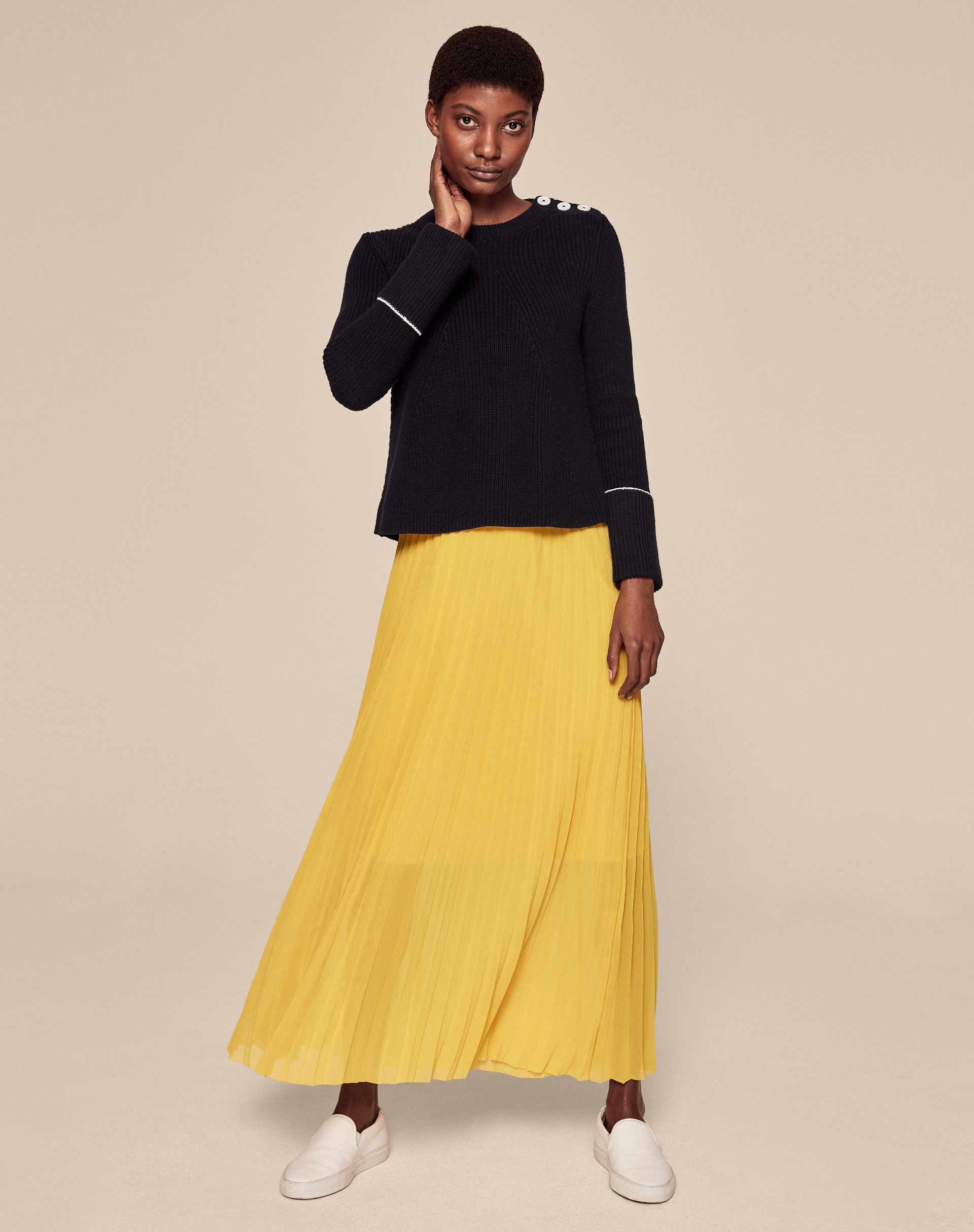 d175b4902c Double Layer Pleat Skirt | Women's Skirts | ME+EM | Fashion Wish ...