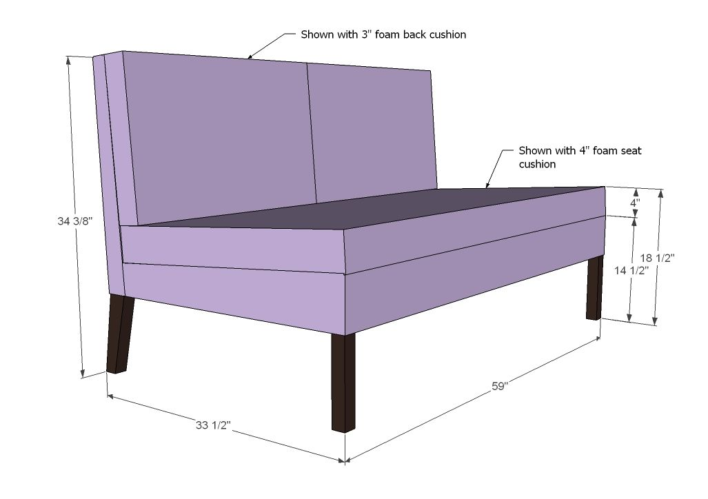 Tremendous Ana White Build A Upholstered Settee Free And Easy Diy Cjindustries Chair Design For Home Cjindustriesco