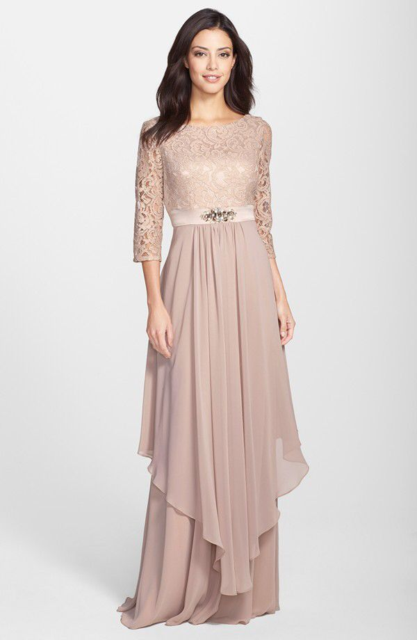 Eliza J Eliza J Embellished Lace & Chiffon Gown available at ...