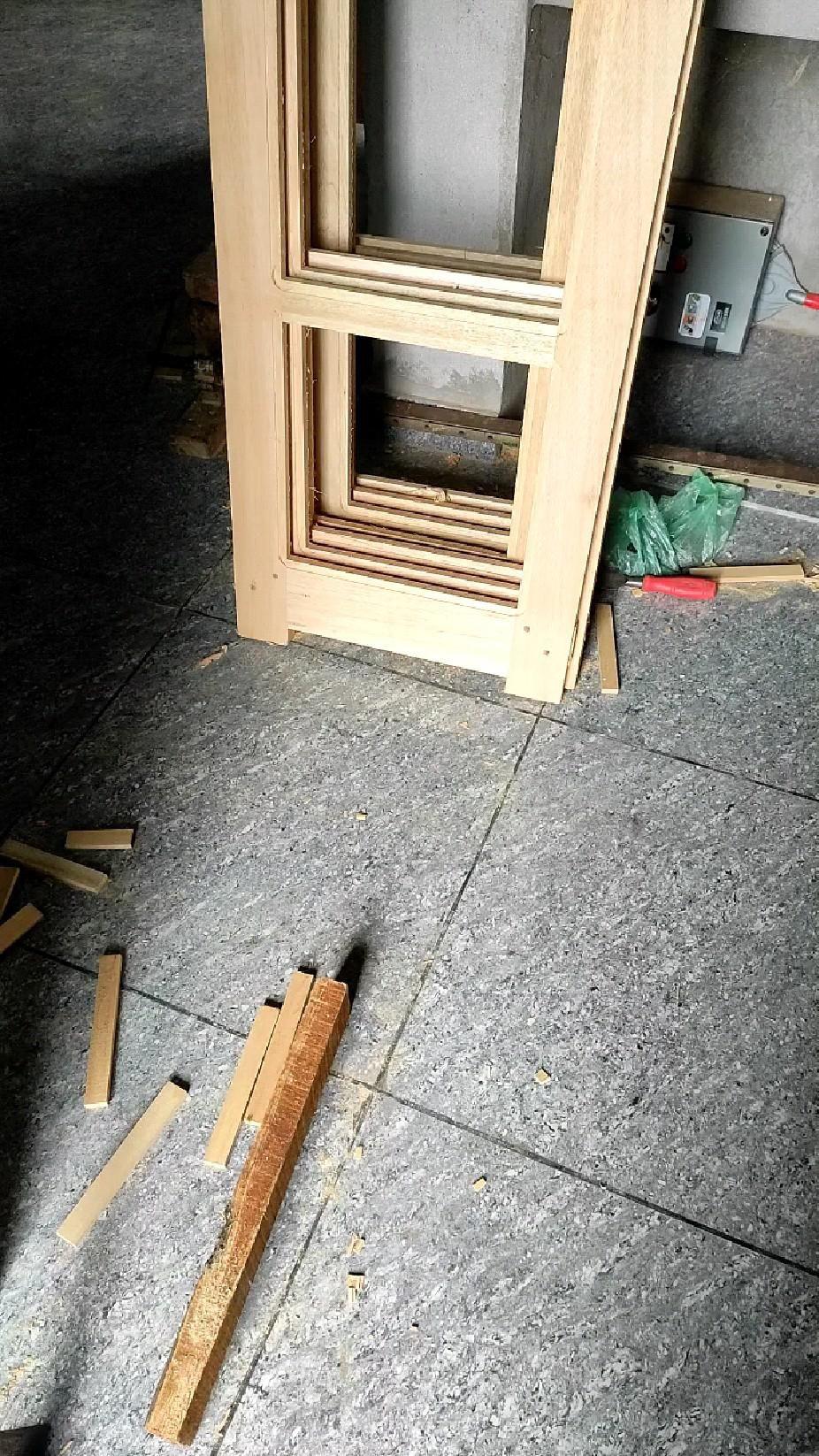 wood door and window