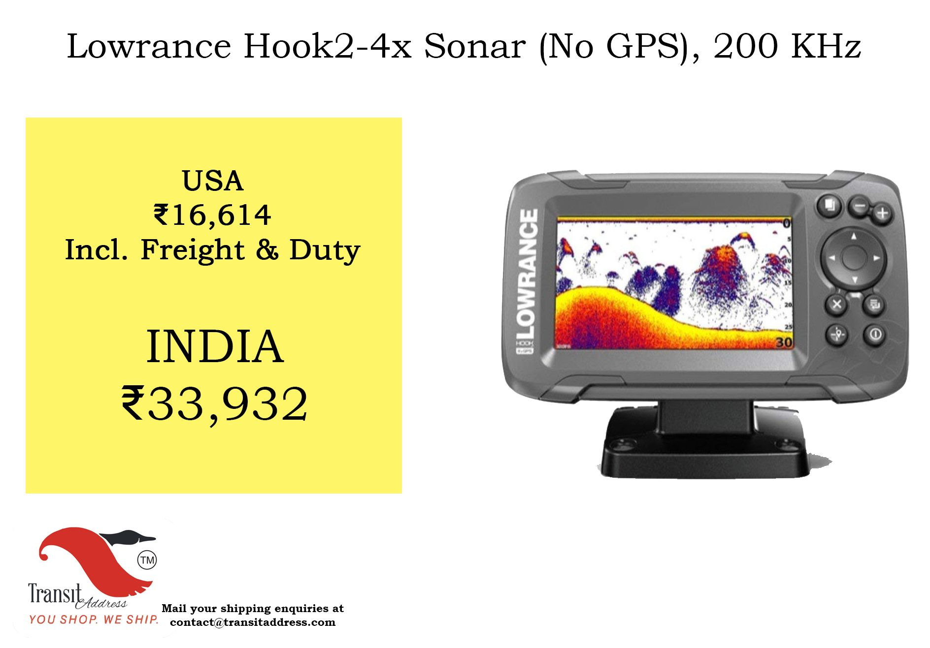 Easy to find fish with double the sonar coverage of