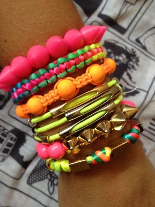 Neon for summer #bracelets #moreismore