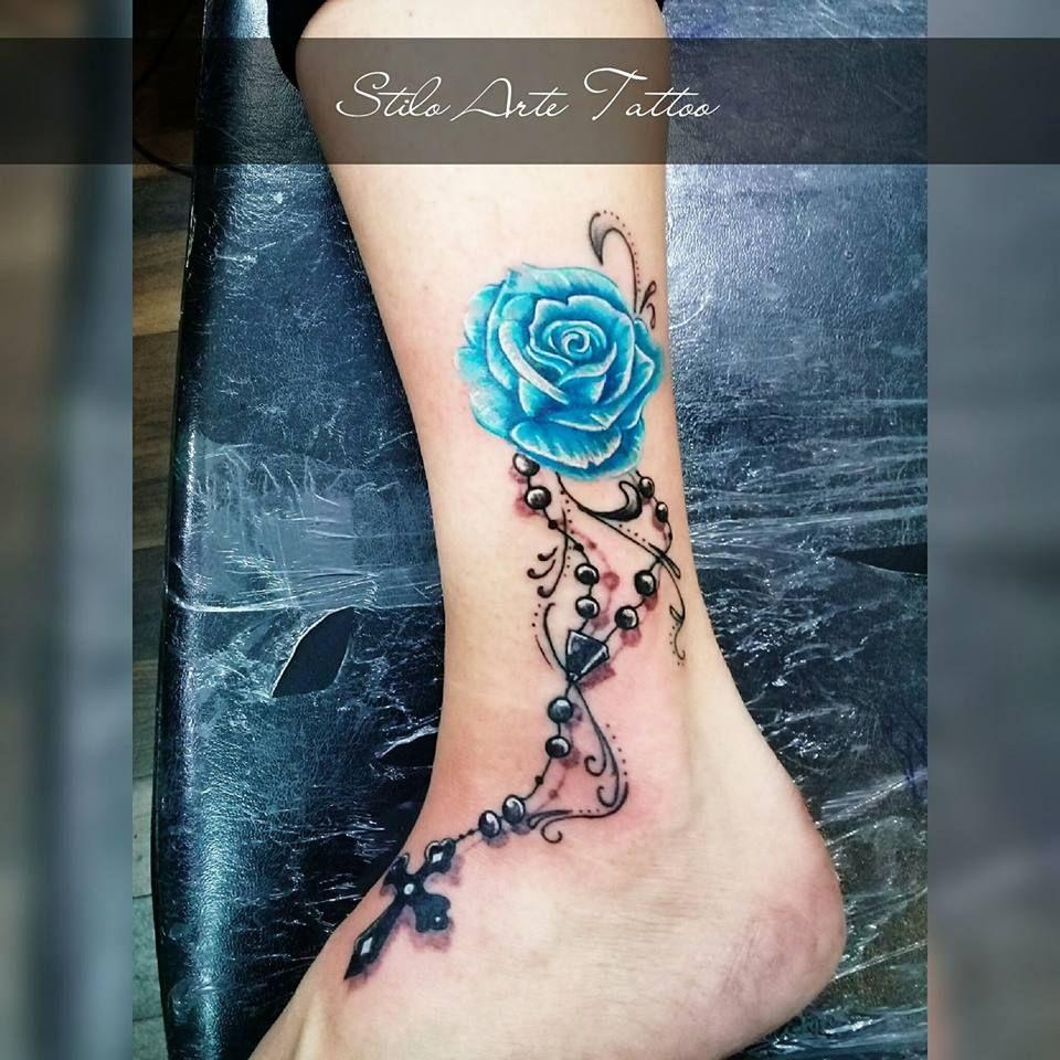 Tattoo Rosa Azul