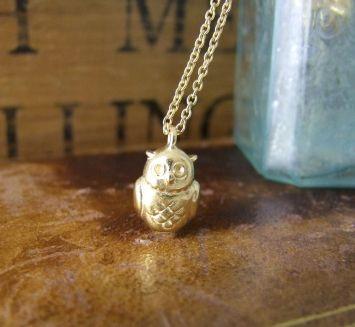 Little Owl Pendant rose gold