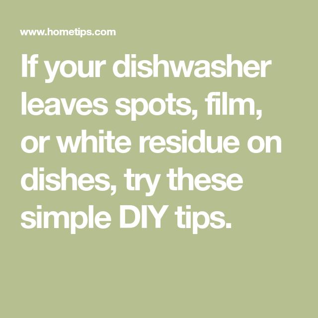 Dishwasher Washes Poorly Dishwasher Easy Diy Film