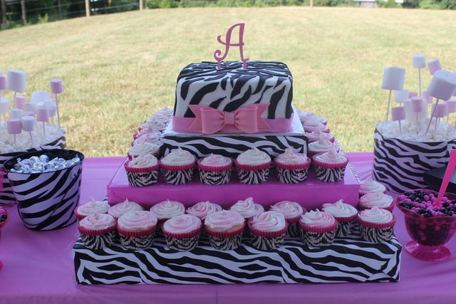 PinkZebra Theme Birthday Party Ideas 11th birthday Pink zebra