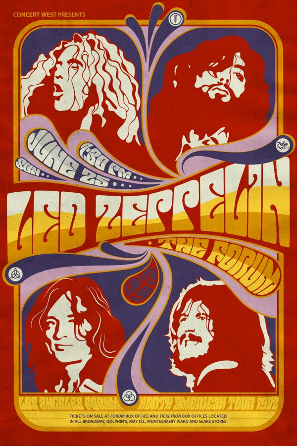 Led Zeppelin Fan Art On Behance Music Concert Posters Led Zeppelin Poster