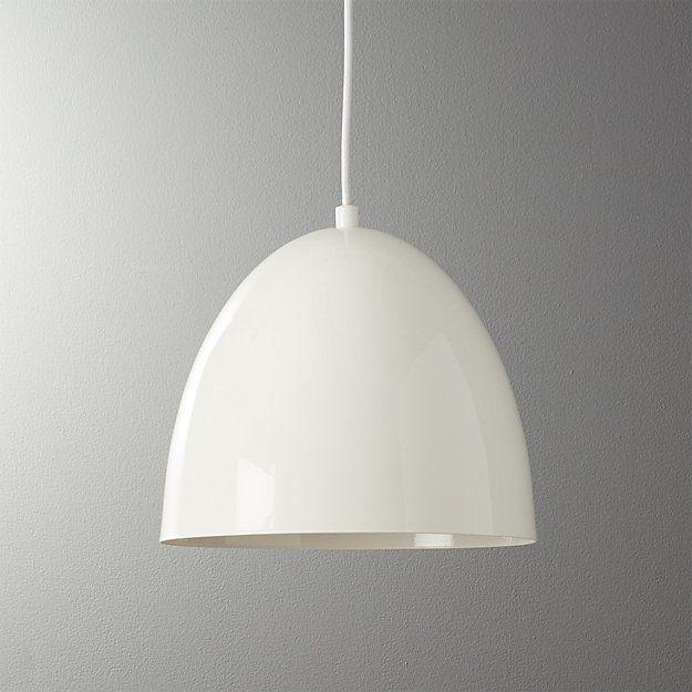Capitol Small White Bell Pendant Light Cb2 Pendant Light