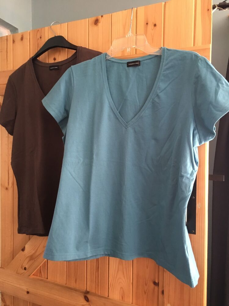 65d8a6e1f5675 2 X Stretchy Casual Tops. Both Size 20 By Florence & Fred 1 : Blue 1 ...