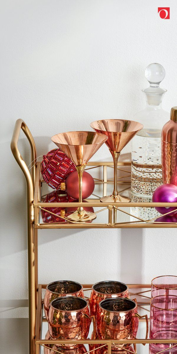 Brighten the season with super chic barcarts from Overstock, where quality home goods always cost less and you'll get Free Shipping on EVERYTHING!* Don't let the most joyous season pass you by without giving your home a festive refresh with gorgeous holiday home decor from Overstock, and nothing says Merry Christmas like seasonal spirits and drinkware in a stylish barcart. #holidaybarcart #holidayhome #overstock