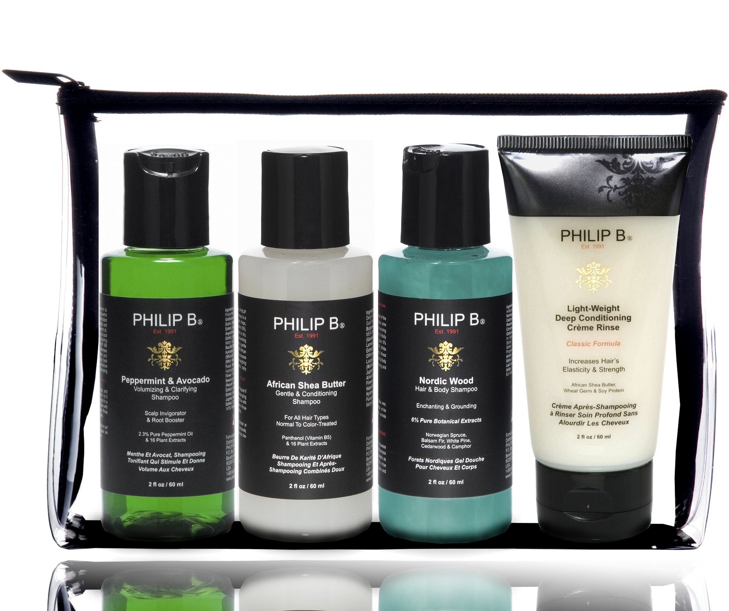 Philip B Travel Kit Classic Luxury beauty, Shea butter