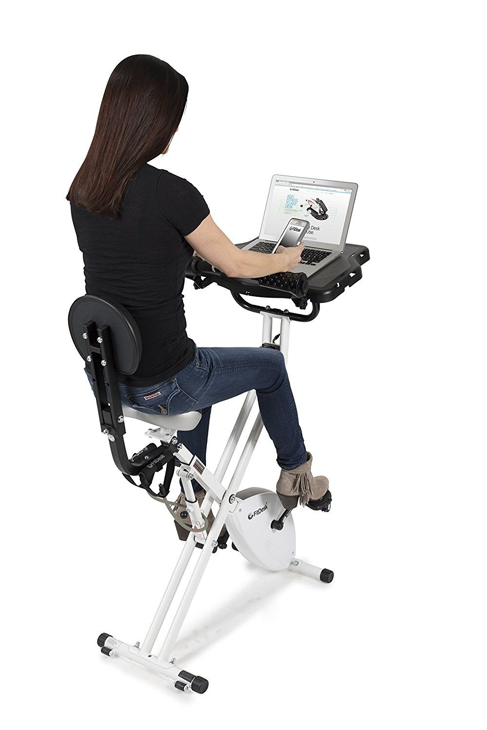 This Fitdesk V3 0 Bike Desk Comes With A Work Desk And An