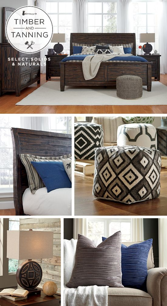 Timber And Tanning 174 Select Solids And Naturals Trudell Panel Bed Wood And Leather