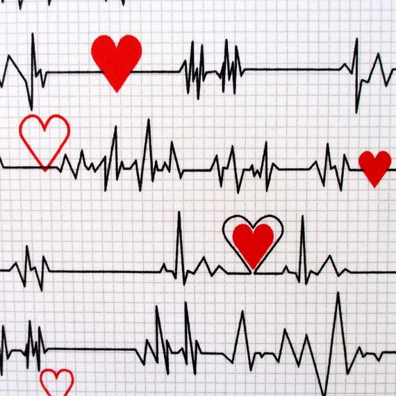 Fabric Calling All Nurses White Heartbeat Ekg Windham