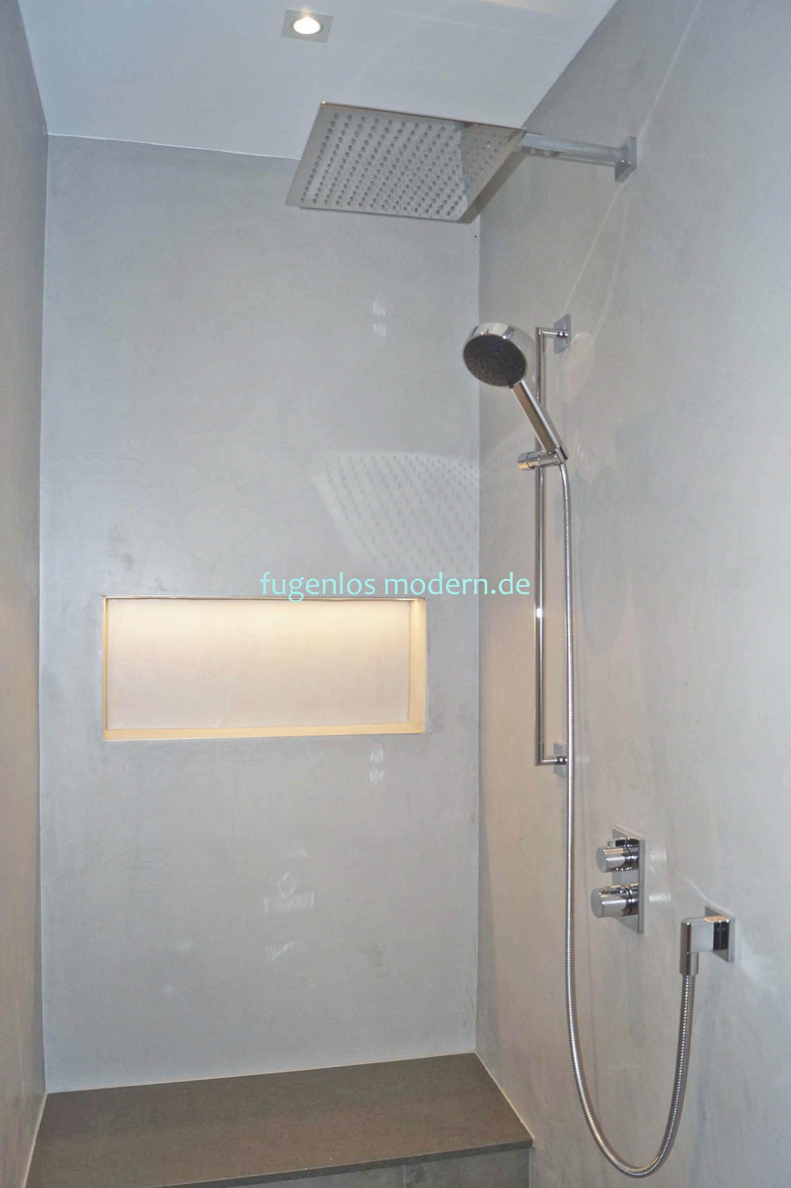 Bad Beton Leicht Zu Reinigen Durch Wasserfeste Versiegelung By Fugenlos Moden De Fugenloses Bad Beton Badezimmer Bad