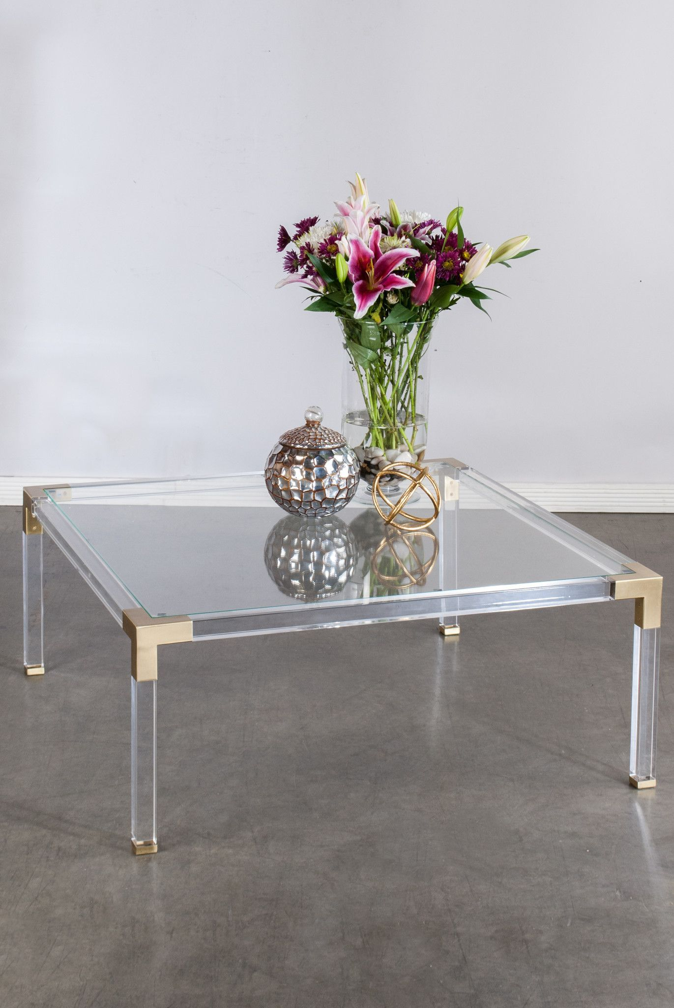39431 Lucia Acrylic Coffee Table Coffee Table Acrylic Coffee