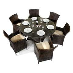 Set of 6 Rattan chairs & round table from www.greenfingers.com £499.99