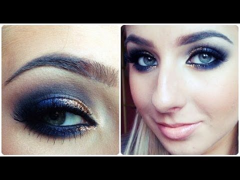 Prom Makeup Tutorial Quick Navy Blue