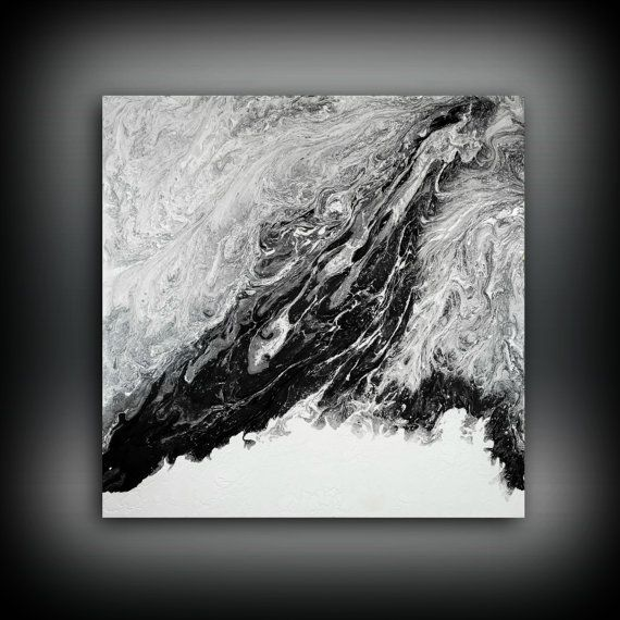 Black And White Resin Art