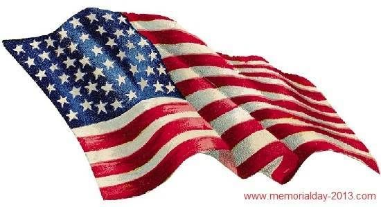 Memorial Day USA Flag Clip Art Pictures, Images, Borders Holiday