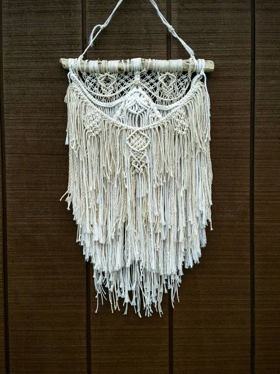 macrame textured wall hanging knotted fringe tapestry on macrame wall hanging id=37081