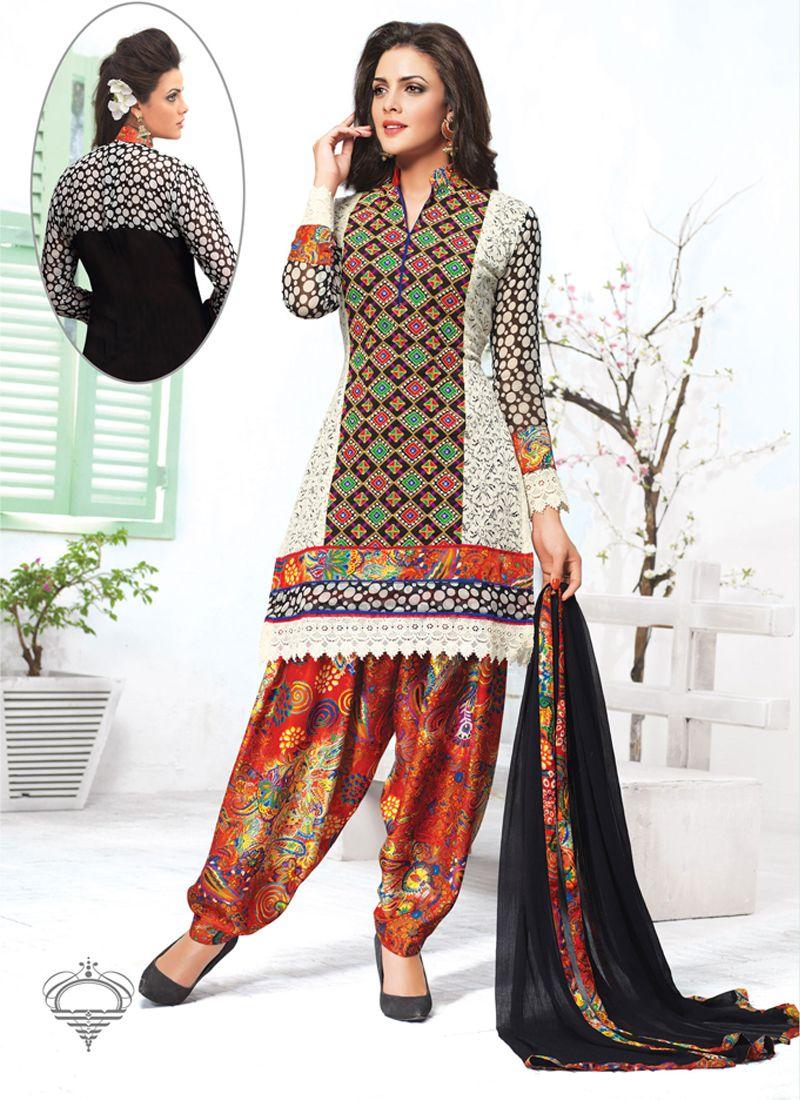 Competent Cream And Black Georgette Punjabi Suit, Product Code :9802, shop now http://www.sareesaga.com/competent-cream-and-black-georgette-punjabi-suit-9802  Email :support@sareesaga.com What's App or Call : +91-9825192886