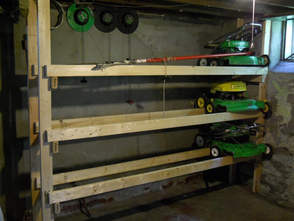 Image Result For Storage Rack Mower Deck Storage Rack Mower