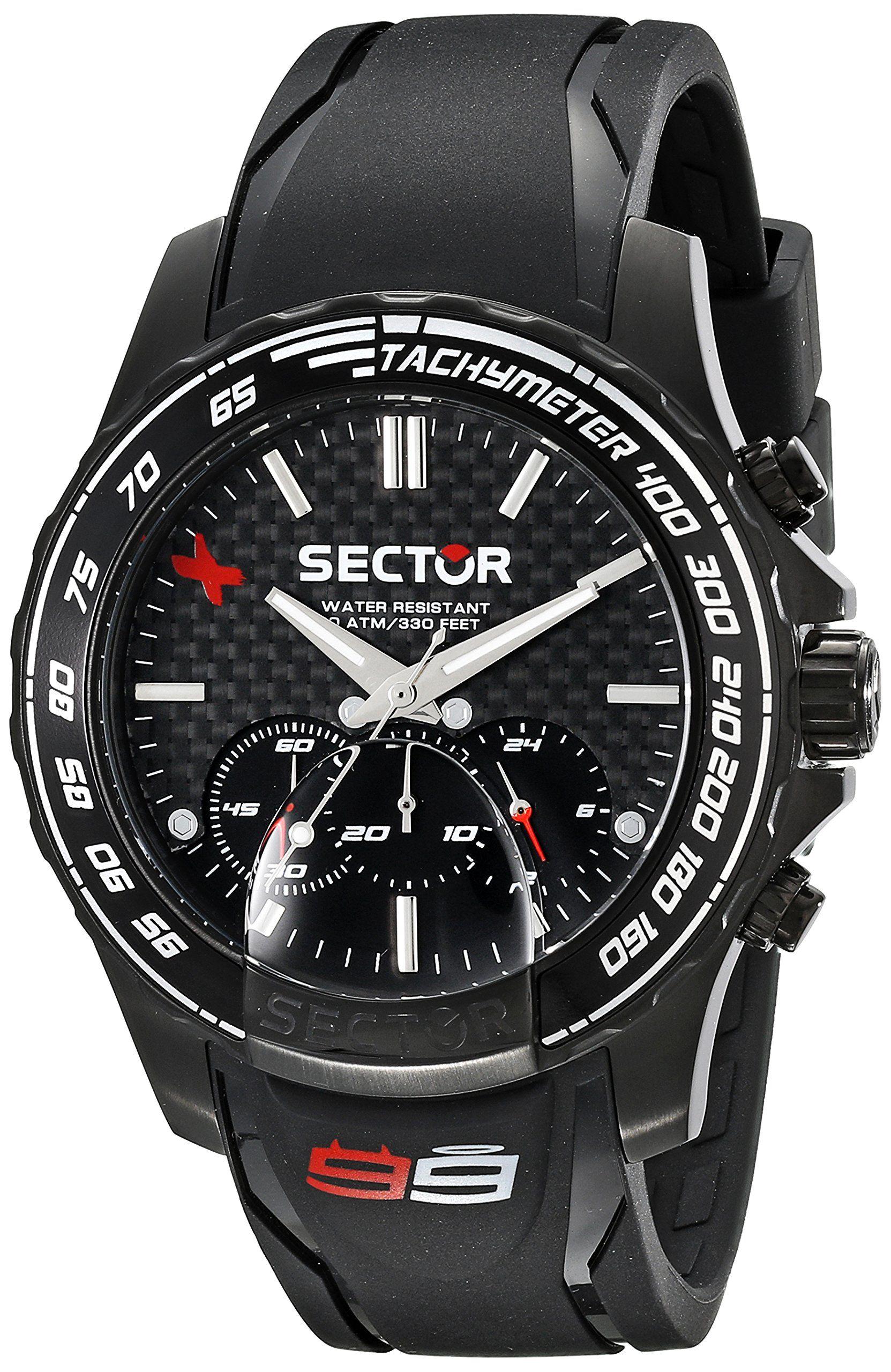 Sector Men S R3271677001 Analog Display Quartz Black Watch
