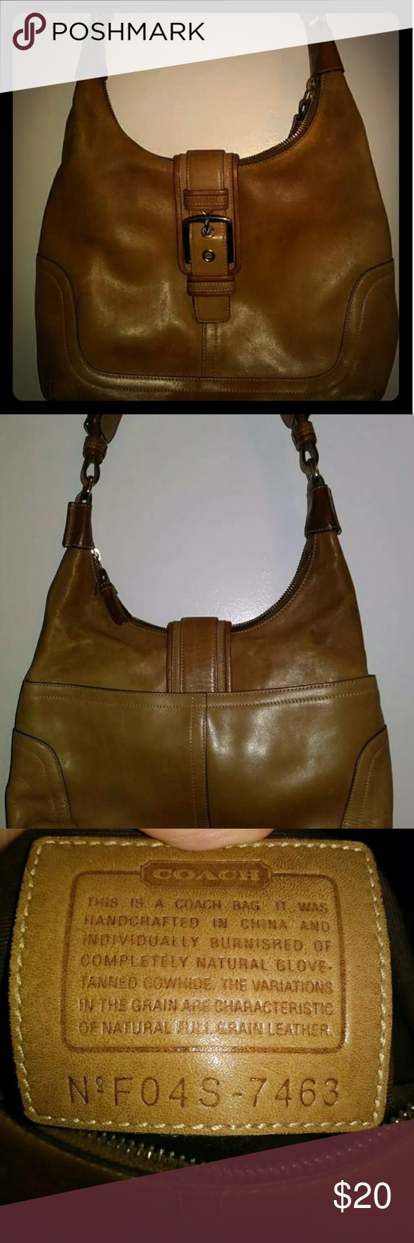 Vintage Coach Purse Leather Bag Clean Interior Bags Shoulder