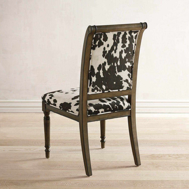 Cow Print Dining Chair Cow Print Chair Kitchen Chair Redo Chair