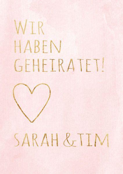 Happy Write Wir Haben Geheiratet Hochzeit Wedding Und Happy