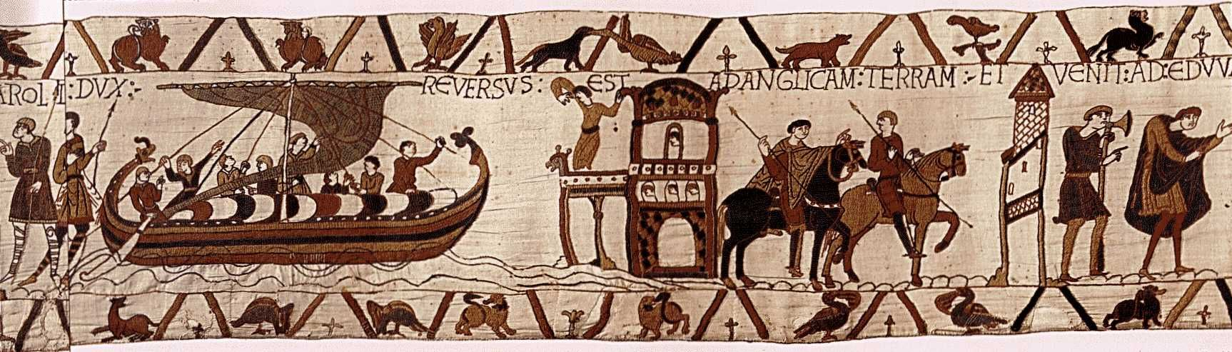King Harold Returning To England Tapisserie De Bayeux Ca 1 The