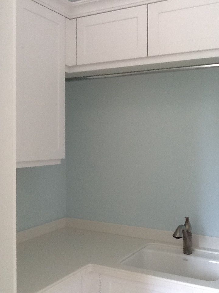 My Laundry Room With Benjamin Moore Ocean Air Paint Colors For Home Aqua Paint Colors