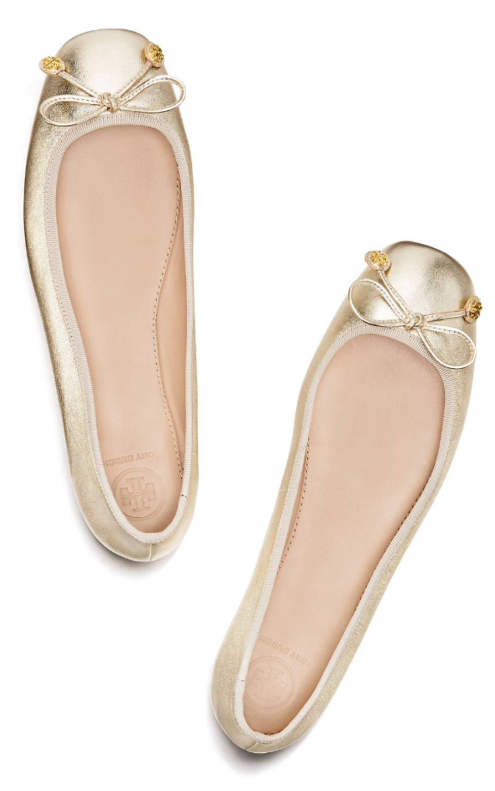 052842b7cc Tory Burch Laila Metallic Driver Ballet Flat | #InTheseShoes in 2019 ...