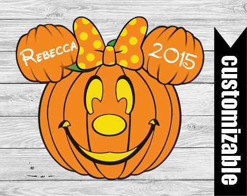 Halloween Pumpkin Minnie Iron On T-shirt Transfer by DuckyDigital
