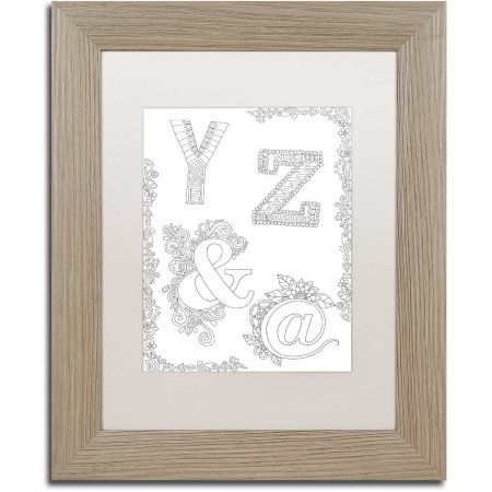Trademark Fine Art Letters and Words 30 inch Canvas Art by Hello Angel, White Matte, Birch Frame, Size: 11 x 14, Assorted