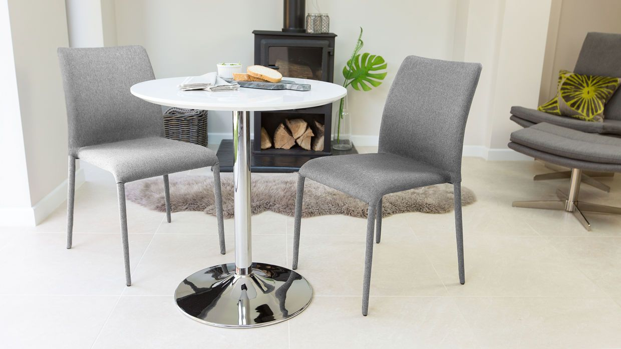 Naro Round 2 Seater White Gloss Table 119 00 Homeliness Table