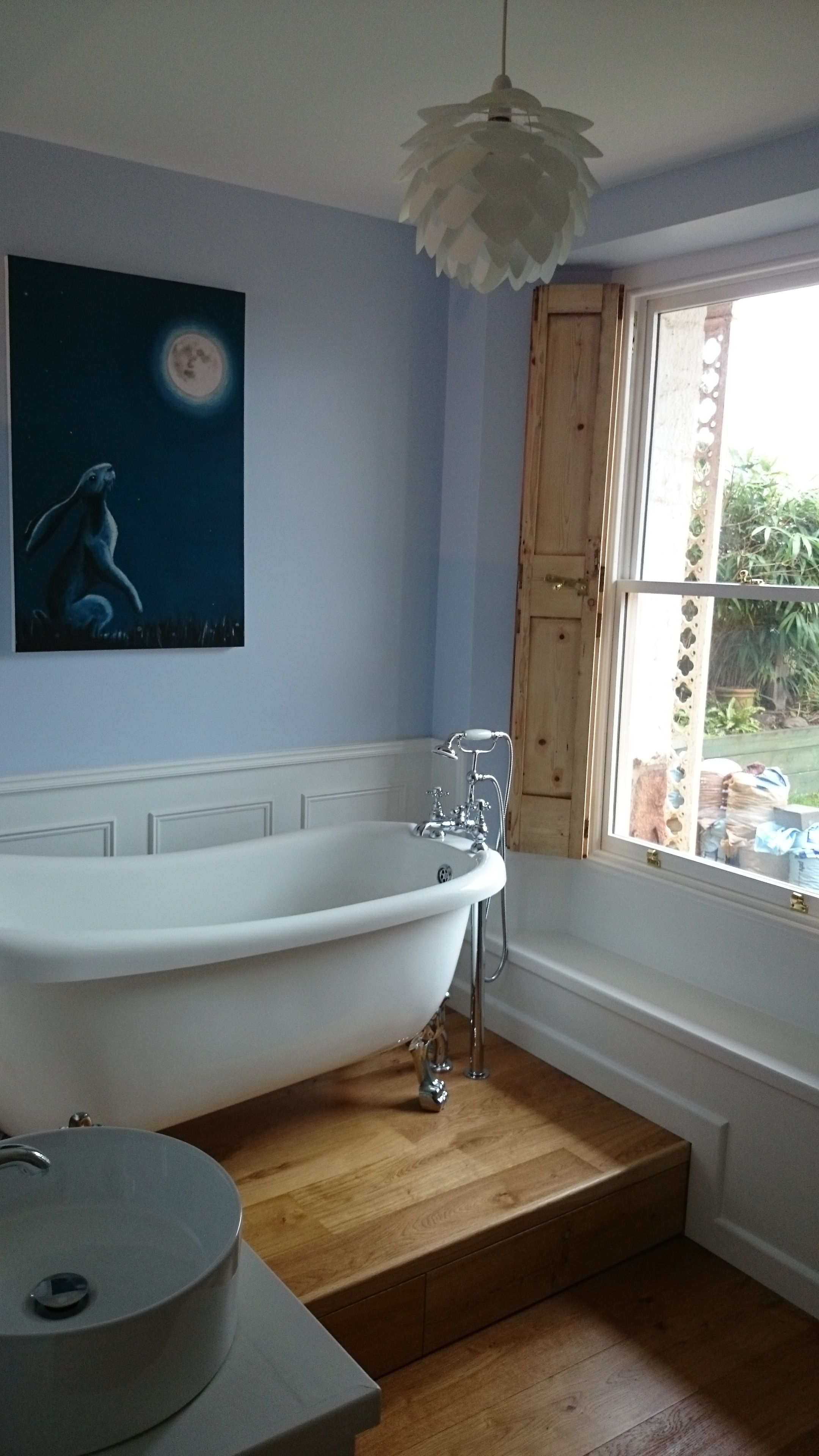 Slipper bath on a raised plinth  Raised Platform Bathtub