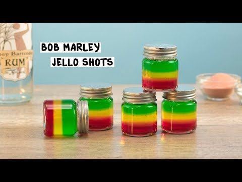 Bob Marley Jello Shots #jelloshotrecipes