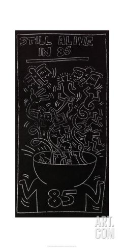 Still Alive in 85 Giclee Print by Keith Haring at Art.com